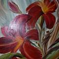Red Lilies by Duygu Kivanc