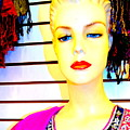 Red Lips And Sequins by Ed Weidman
