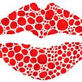 Red Lips Art - Big Kiss - Sharon Cummings by Sharon Cummings