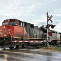 Red Locomotive by Teresa Zieba