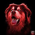 Red Malamute Dog Art - 6536 - Bb by James Ahn