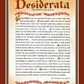 Red Matted Floral Scroll Desiderata Poem by Desiderata Gallery