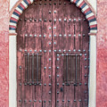 Red Medieval Wood Door by David Letts