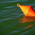 Red Mooring Buoy by Vladi Alon