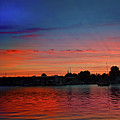 Red Morning Sun  by Joseph F Safin