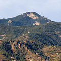 Red Mountain In The Foothills Of Pikes Peak Colorado by Steve Krull