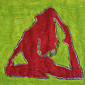 Red Nude Yoga Girl by Stormm Bradshaw