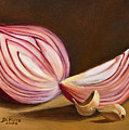 Red Onion Still Life by Joni Dipirro
