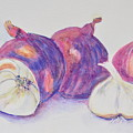 Red Onions And Garlic by Jonathan Galente