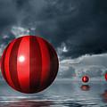 Red Orbs by Judi Quelland