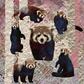 Red Panda Abstract Mixed Media Digital Art Collage by Creativemotions