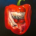 Red Pepper Oil Painting by Natalja Picugina