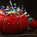 Red Pin Cushion by Donald Erickson
