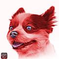 Red Pomeranian Dog Art 4584 - Wb by James Ahn