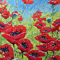 Red Poppies By Prankearts by Richard T Pranke