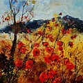 Red Poppies In Provence  by Pol Ledent