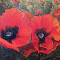 Red Poppies by Nanci Cook