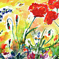 Red Poppies Provence 2017 by Ginette Callaway