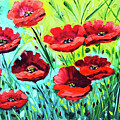 Red Poppies by Tejal Shah