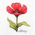 Red Poppy by Lisa George
