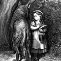 Red Riding Hood Meets Old Father Wolf by Dore Gustave