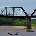 Red River Railroad Crossing by Robyn Stacey