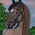 Red Roan Horse by Anna Folkartanna Maciejewska-Dyba