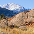 Red Rock And Pikes Peak by Steve Krull