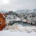 Red Rock Canyon In Winter 2 by Dale Poll