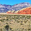 Red Rock Canyon Panorama by Barbara Teller