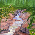 Red Rock Canyon - Waterton by Marsha Karle