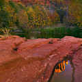 Red Rock Reflection by Mike  Dawson