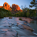 Red Rock Sunset by Mike  Dawson