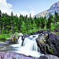 Red Rocks Falls, Glacier National Park by Kay Brewer