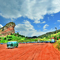 Red Rocks Hippie Van by Randy Aveille