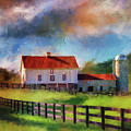 Red Roof Barn by Lois Bryan