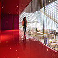 Red Room Views At The Seattle Central Library by Matt McDonald