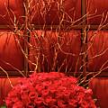 Red Rose Display Close Up by Linda Phelps