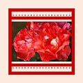 Red Rose With A Whisper Of Yellow And Design by Joy Watson