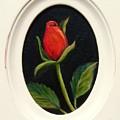 Red Rosebud   Sold by Susan Dehlinger