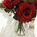 Red Roses And Glass Still Life 042216 1a by Henry Mills