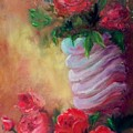 Red Roses For A Blue Vase by Lynda McDonald