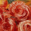 Red Roses Pierre-auguste Renoir by Eloisa Mannion