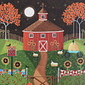 Red Round Barn by Mary Charles