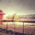 Red Round Barn by Tim Wemple