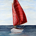 Red Sail Serenity by Dennis Smith