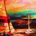 Red Sails In The Sunset by Carole Spandau