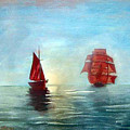 Red Sails In The Sunset by Richard Le Page