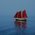 Red Sails On Superior by Robert Coffey