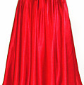 Red Satin Mid-calf Skirt. Ameynra Simple Line 2013 by Sofia Metal Queen
